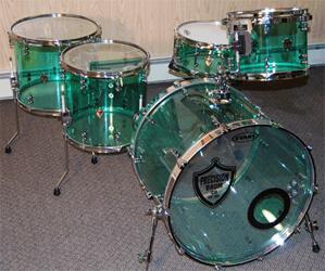 acrylic drum kit photos